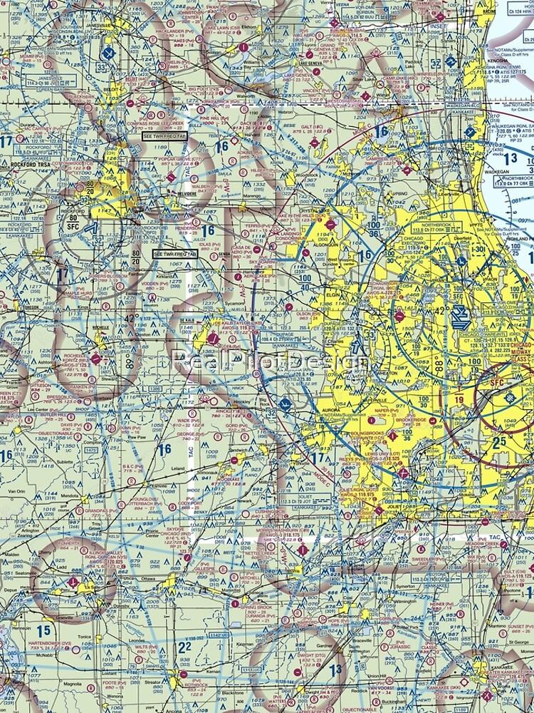Chicago Sectional Aeronautical Chart by RealPilotDesign