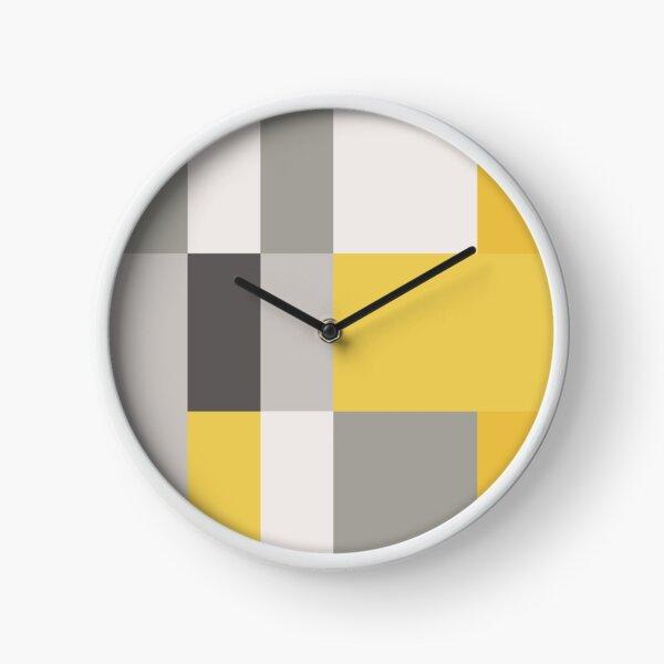 Mustard & Grey Patchwork  Clock
