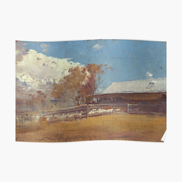 Shearing Shed, Newstead by Tom Roberts Poster