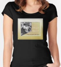Argus Camera Cover Manual - Vintage Graphic Women's Fitted Scoop T-Shirt