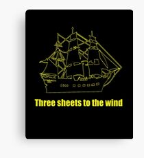 Tree sheets to the wind Canvas Print