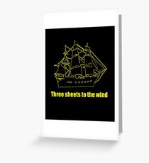 Tree sheets to the wind Greeting Card
