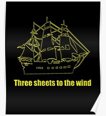 Tree sheets to the wind Poster
