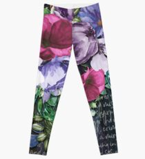 WATERCOLOUR ART FLOWER PAINTING  Leggings