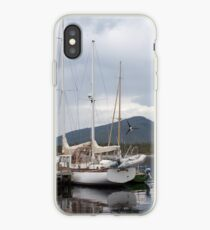 Moored sailing boat iPhone Case
