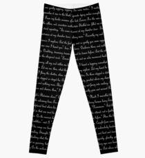 Poe's The Raven text Leggings