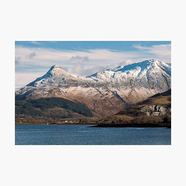 The Pap of Glencoe and Loch Leven Photographic Print