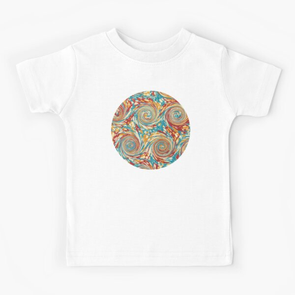 Book art: marbled endpapers – State Library Victoria Kids T-Shirt