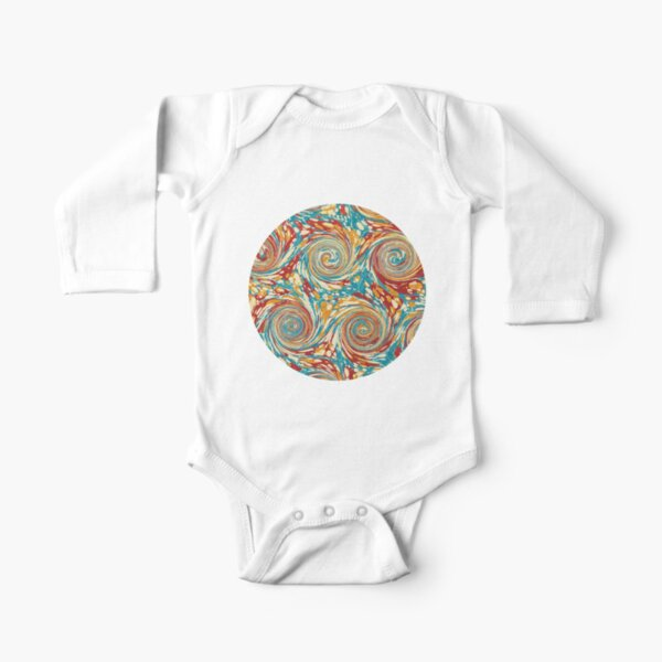 Book art: marbled endpapers – State Library Victoria Long Sleeve Baby One-Piece