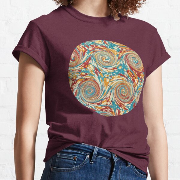Book art: marbled endpapers – State Library Victoria Classic T-Shirt