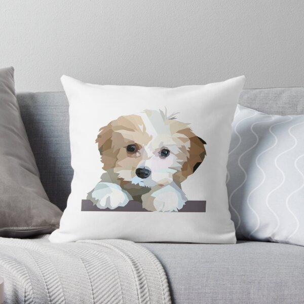 Cute Cavachon Dog  Throw Pillow