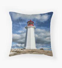 Peggy's Cove Lighthouse, Nova Scotia Throw Pillow