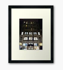 Subway station, New York, Brooklyn, Manhattan, New York City, Buildings, streets, trees Framed Print