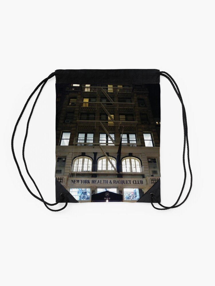 Alternate view of New York, Brooklyn, Manhattan, New York City, Buildings, streets, trees Drawstring Bag