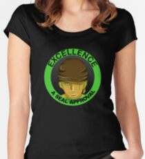 Seal of Approval cool graphic  Women's Fitted Scoop T-Shirt