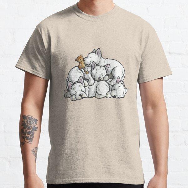 Sleeping pile of Westies Classic T-Shirt