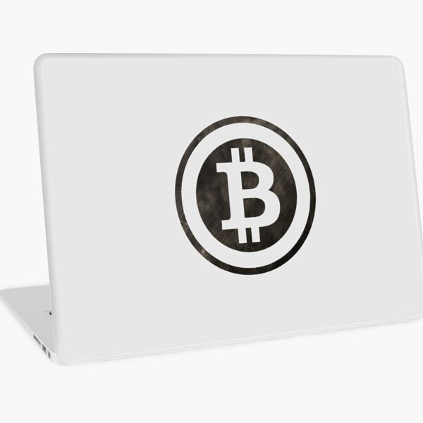 Bitcoin Cryptocurrency Black Logo Laptop Skin