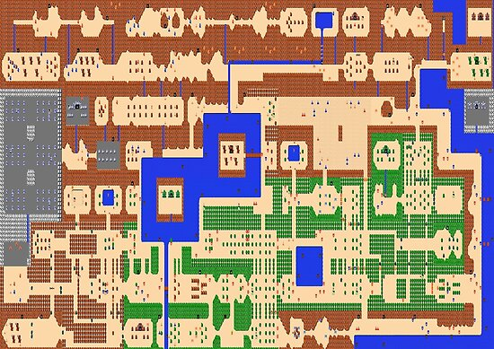 \'Legend of Zelda - Overworld Map\' Poster by luv2right