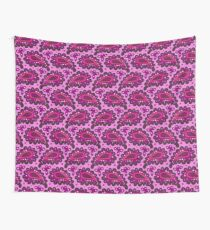 Dark pink paisley seamless pattern. Wall Tapestry