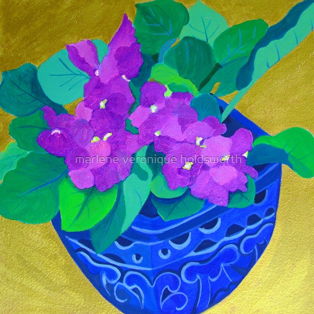 African Violets by marlene veronique holdsworth