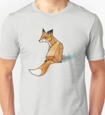 Geometric Watercolour Fox Unisex T-Shirt