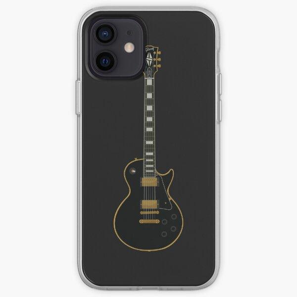 Lp Guitar - Black iPhone Soft Case