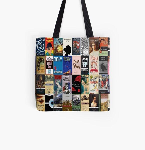 Cubiertas de libros de literatura clásica Bolsa estampada de tela