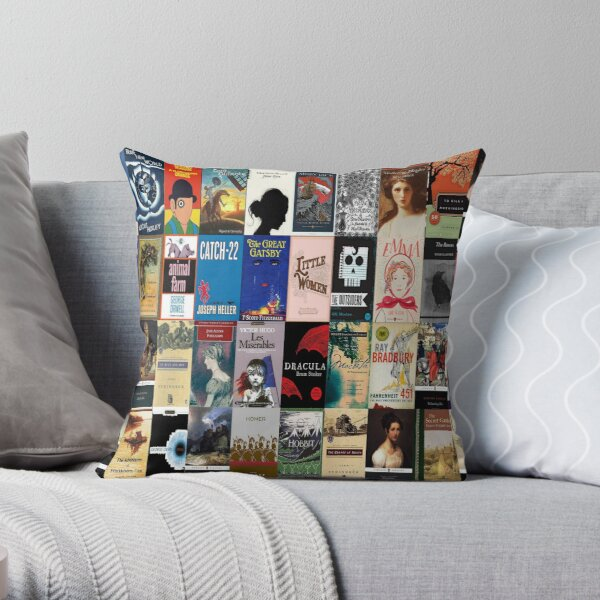Classic Literature Book Covers  Throw Pillow