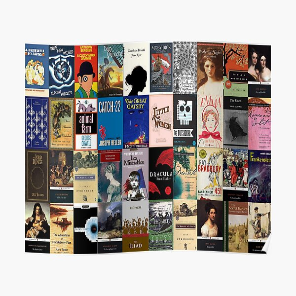 Classic Literature Book Covers  Poster