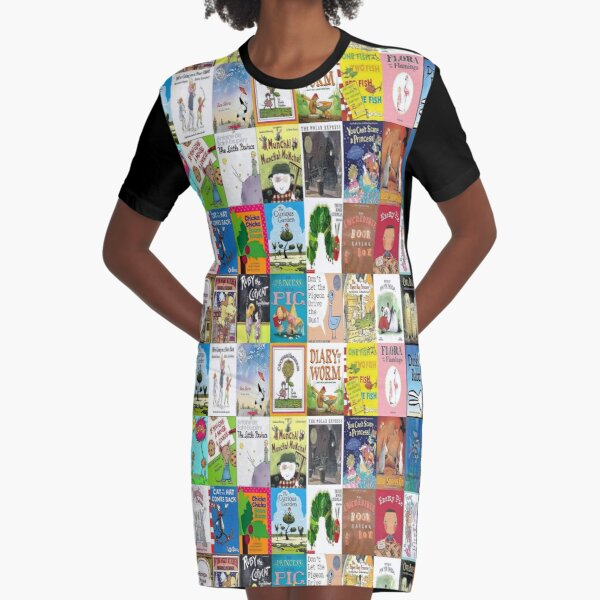 Children Picture Book Covers  Graphic T-Shirt Dress