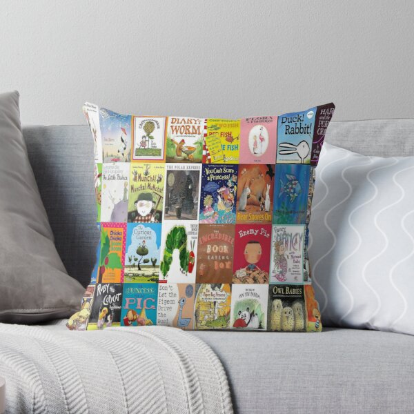 Children Picture Book Covers  Throw Pillow