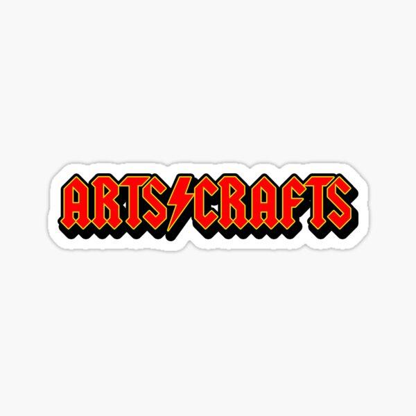 """Arts and Crafts"" Band Logo Sticker"