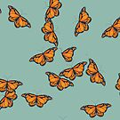Butterflies Nr 2 on Transparent Background  by Heatherian