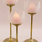 Three Lotus Candle Holders by Sandra Foster