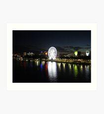 Southbank Night Lights Art Print