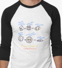 Flat Earth Theory Men's Baseball ¾ T-Shirt