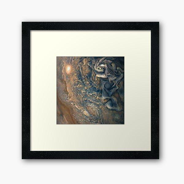 Storms of Jupiter - Juno  Framed Art Print