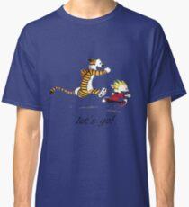 Calvin And Hobbes Run Classic T-Shirt