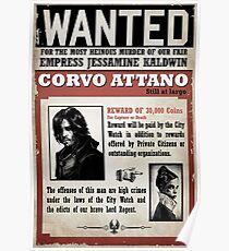 Corvo Attano Wanted Poster Poster