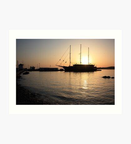 Mediterranean Sunset ... on a Greek Island :) Art Print