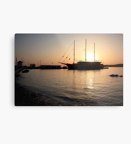 Mediterranean Sunset ... on a Greek Island :) Metal Print