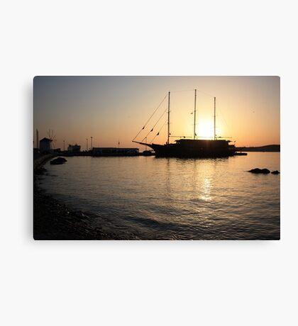Mediterranean Sunset ... on a Greek Island :) Canvas Print