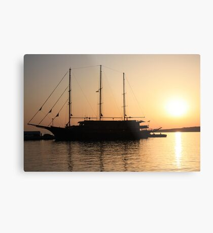 Nautical Sunset Dreams Metal Print