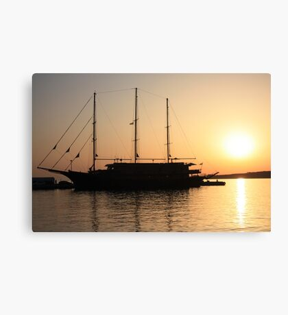 Nautical Sunset Dreams Canvas Print