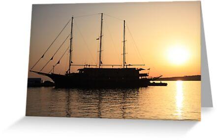 Nautical Sunset Dreams by BettinaSchwarz
