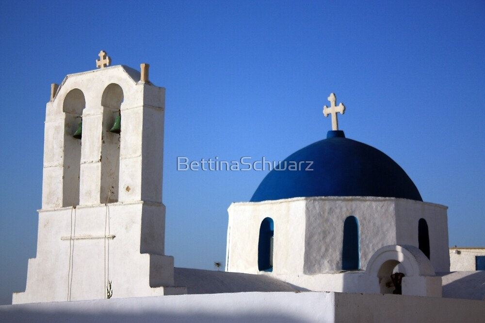 Chapels ~ with their blue domes and bell towers ~ by BettinaSchwarz