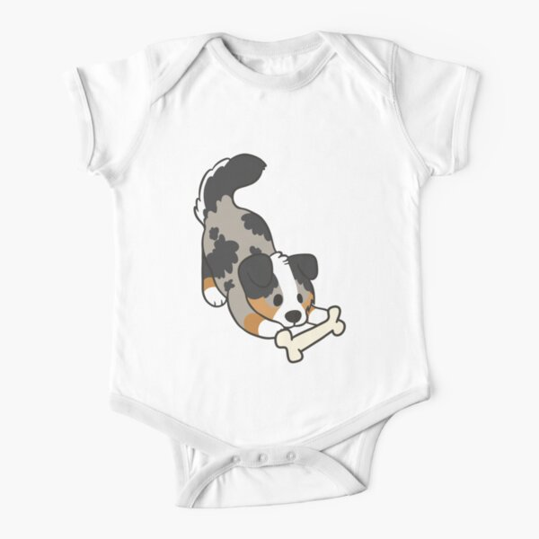 Australian Shepherd Short Sleeve Baby One-Piece