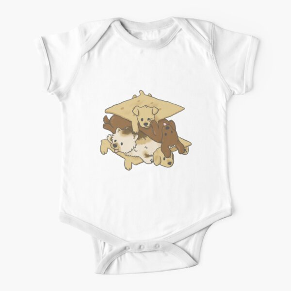 S'mores Puppers Short Sleeve Baby One-Piece