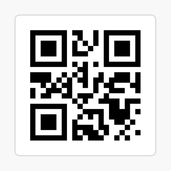 Envoyer Nudes - QR Code Sticker