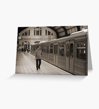 Piraeus Metro Station Greeting Card